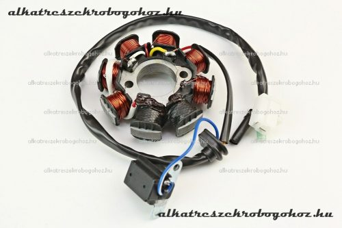 Gyújtás alaplap állórész 4T GY6 50-80ccm 8 tekercses 4 vezetékes, 4 ütemű kínai robogóhoz MD-0000-08-02
