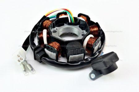 Gyújtás alaplap állórész 8 tekercses 4T, 4 ütemű 125cc kínai robogóhoz