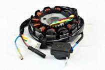 Gyújtás alaplap állórész 11 tekercses 4T, 4 ütemű 125cc kínai robogóhoz RV-0150-08-02
