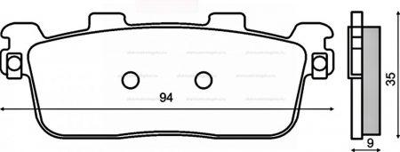 Fékbetét hátsó Kymco People 250 RMS 2740
