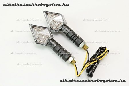 Index LED-es Karbon ROMB RV-03-11-09