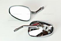 Tükör króm ovál 10-es menettel RV-18-02-18