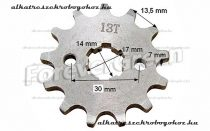 Lánckerék első 428 13 fogas 14/17mm-es tengelyre (405)