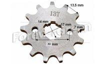 Lánckerék első 428 13 fogas 14/17mm-es tengelyre