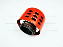Levegőszűrő Sport 35mm fém házas PIROS