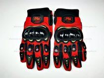 MR protektoros kesztyű fekete - piros XXL méret