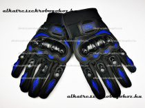MR protektoros kesztyű fekete - kék L méret