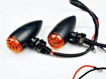 Index LED-es kúpos fekete fém házas