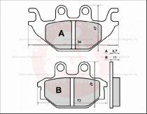 Fékbetét ( KEVLÁR ) KYMCO KXR 250-300ccm 04-05 RMS 3070