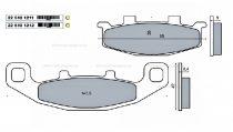 Fékbetét ( KEVLÁR ) KAWASAKI GPZ 900R / SUZUKI GSF 400 RMS 1211