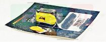 Kürt gomb PIAGGIO NRG sárga RMS 0010