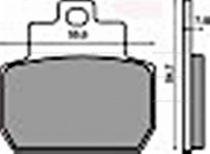 Fékbetét Piaggio X8 / MP3 125-250 04-07 / BEVERLY 400-500 05-09   RMS 0780