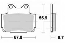 Fékbetét Yamaha TZR 125ccm NEWFREN 0082