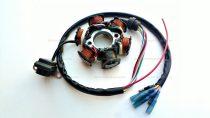 Gyújtás alaplap állórész 4T GY6 6 tekercses, 4 ütemű kínai robogóhoz / CG125 6 vezetékes (csatlakozó nélküli)