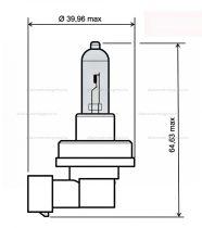 Izzó H11 12V 55w RMS 0085