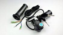 Gázkar töltöttség visszajelzővel és gyújtáskapcsolóval (skálás) - elektromos kerékpárhoz