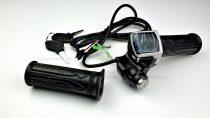 Gázkar töltöttség visszajelzővel és gyújtáskapcsolóval (számos) - elektromos kerékpárhoz