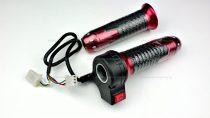 Gázkar sebességkapcsolós (piros) - elektromos kerékpárhoz