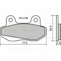 Fékbetét Honda 110ccm / SYM Wolf Classic 125 RMS 2590