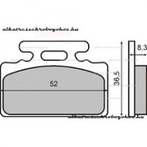 Fékbetét Honda Lead 50ccm RMS 3440