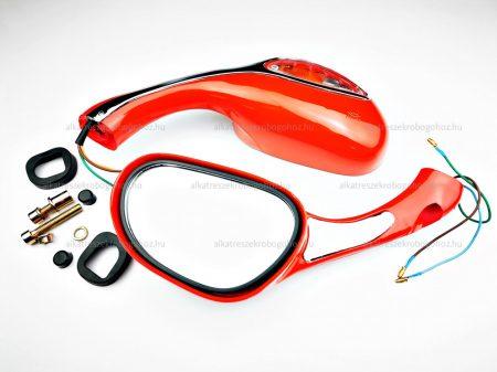 Tükör irányjelzős piros 8mm TIP 2